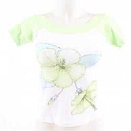 Dámské květované triko s krátkými rukávy