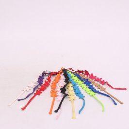 Textilní náramky s motivem motýlů
