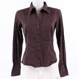Dámská pruhovaná košile Amisu odstín hnědé
