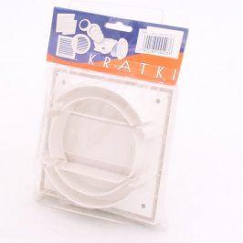 Plastový bílý ventilátor Kratki