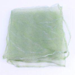 Záclona zelená průsvitná 136 x 70 cm
