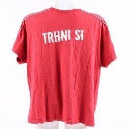 Pánské červené tričko s nápisem Trhni si