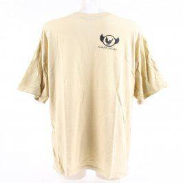 Pánské žluté tričko s logem a nápisem