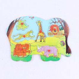 Hra dětská skládací se zvířátky