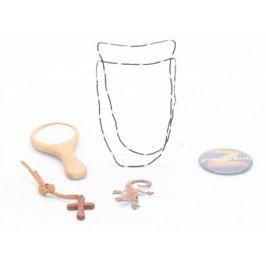 Bižuterie - náhrdelník, brož, zrcátko, přívěšek