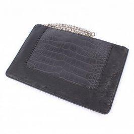 Černé koženkové psaníčko The Bag