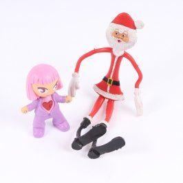 Figurky Santa a holčička