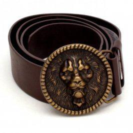 Dámský pásek C&A hnědý s motivem lví hlavy