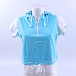 Dámské tričko s kapucí Mirka Sport modrobílé