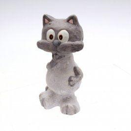 Keramická dekorace kočka s koťátkem