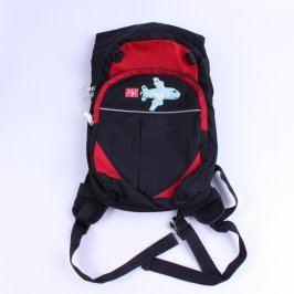 Dětský batoh DDD černočervené barvy