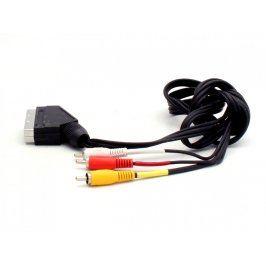 Propojovací kabel Scart / 3x Cinch M