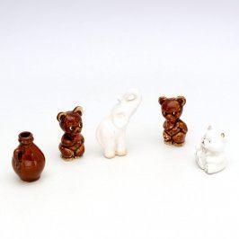 Keramická dekorace 5 kusů figurek