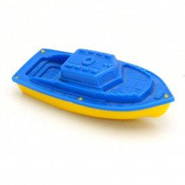 Parník modrožlutý plastový