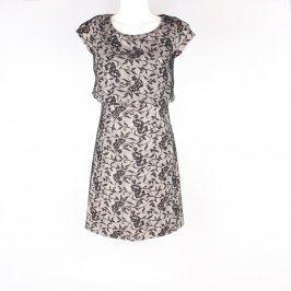 Společenské šaty Orsay hnědé s krajkou