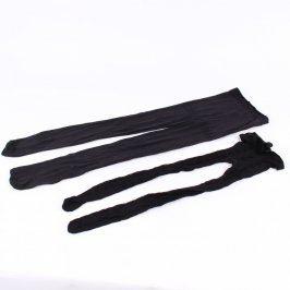 Dámské elastické punčocháče černé
