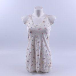 Dámská noční košile bílá s květinami