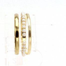 Dámské náramky zlaté barvy 3 ks