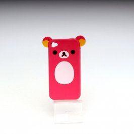 Obal na mobil růžový silikon iPhone 4/4s