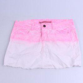 Dámská mini sukně Zara růžovobílá