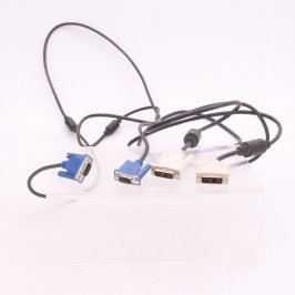 Video kabely VGA M a DVI M 175 cm 2 kusy