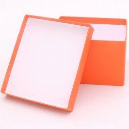 Dárková krabička papírová oranžová