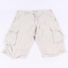 Pánské šortky s kapsami C&A bílé