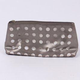 Kosmetická taštička Avon šedá s puntíky