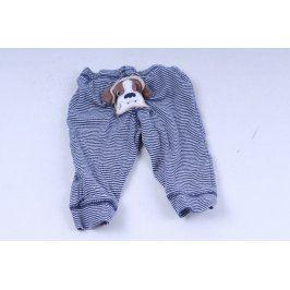 Dětské modré kalhoty s pejskem
