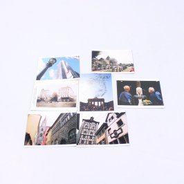 Sada pohlednic různých evropských měst