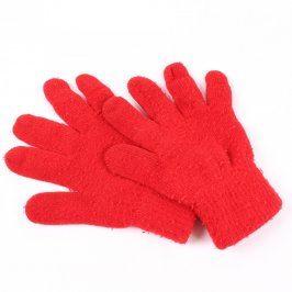 Dámské rukavice odstín červené