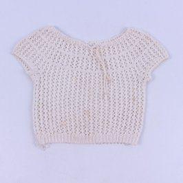 Dívčí bolerko pletené bílé