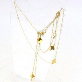 Zlatý náhrdelník s motivem květin