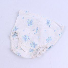 Dívčí kalhotky bílé s modrými kytičkami