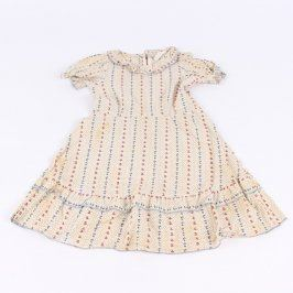 Dětské šaty bílé s motivem kytiček