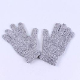 Prstové rukavice pletené šedé