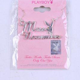 Řetízek s přívěškem Playboy Miss November