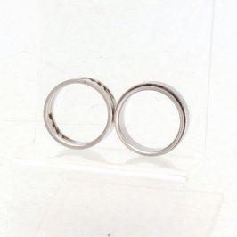 Dámské prstýnky se vzory 2 kusy