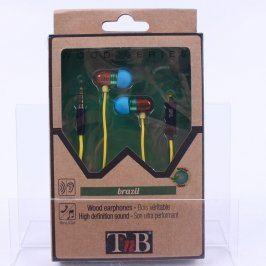 Sluchátka do uší TnB brazil Wood Series