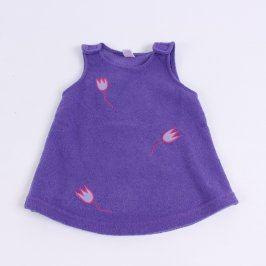 Dětské šaty bez rukávu fialové