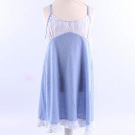 Dívčí noční košile na ramínka modrá