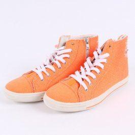 Dámské kotníkové tenisky Mixer oranžové