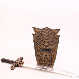 Meč a štít v bronzovém provedení