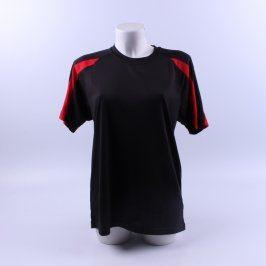 Pánské tričko AWDis odstín černo červené