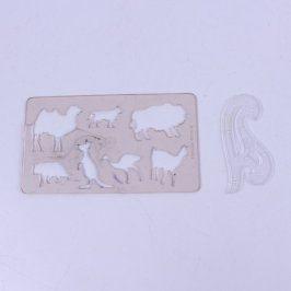 Obkreslovací šablony ve tvaru zvířátek