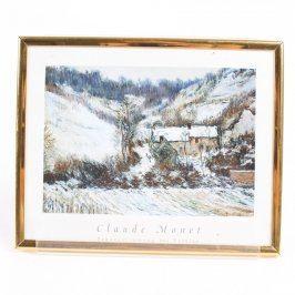 Obraz Claude Monet-Schneestimung bei Falaise