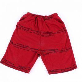 Dětské šortky červené barvy s kapsami