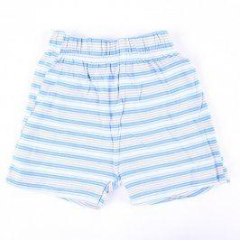 Dětské šortky s bílo-modrými proužky