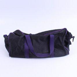 Cestovní taška černá a fialové aplikace