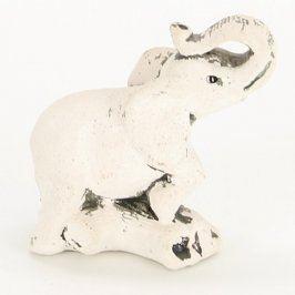 Dekorace bílý sádrový slon
